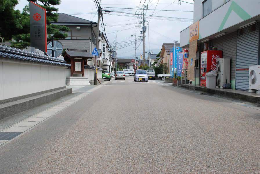 日田市豆田町(排水性脱色アスファルト舗装)