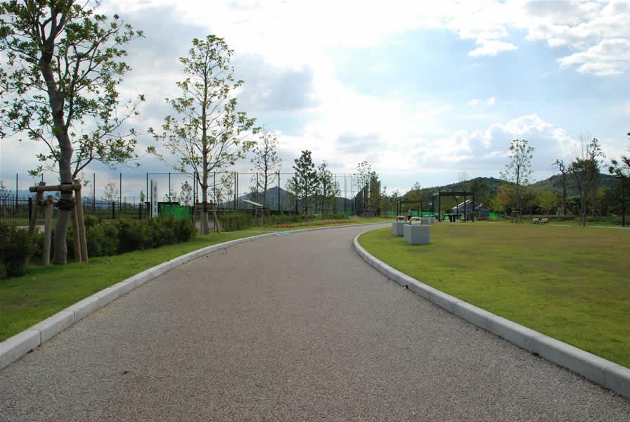 今津運動公園(透水性脱色アスファルト舗装)