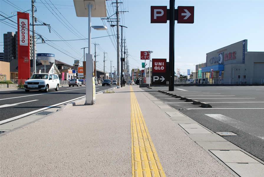 福岡県行橋市西宮地区歩道整備(遮熱舗装)