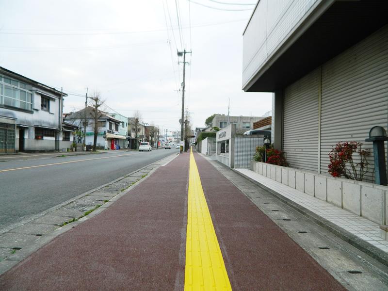 田川市川端町歩道整備(樹脂系滑り止め舗装・トップ付)