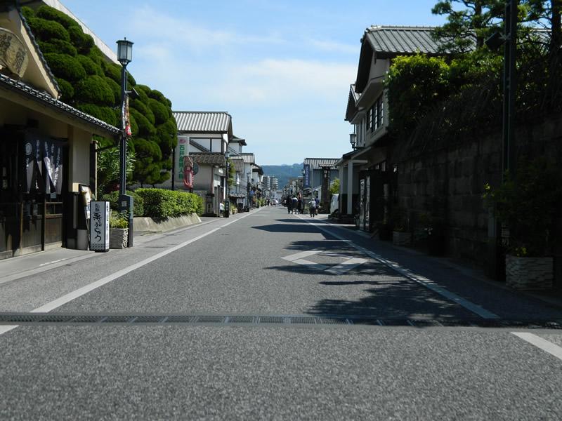 日田市豆田町まちなみ整備工事(排水性アスファルト舗装)