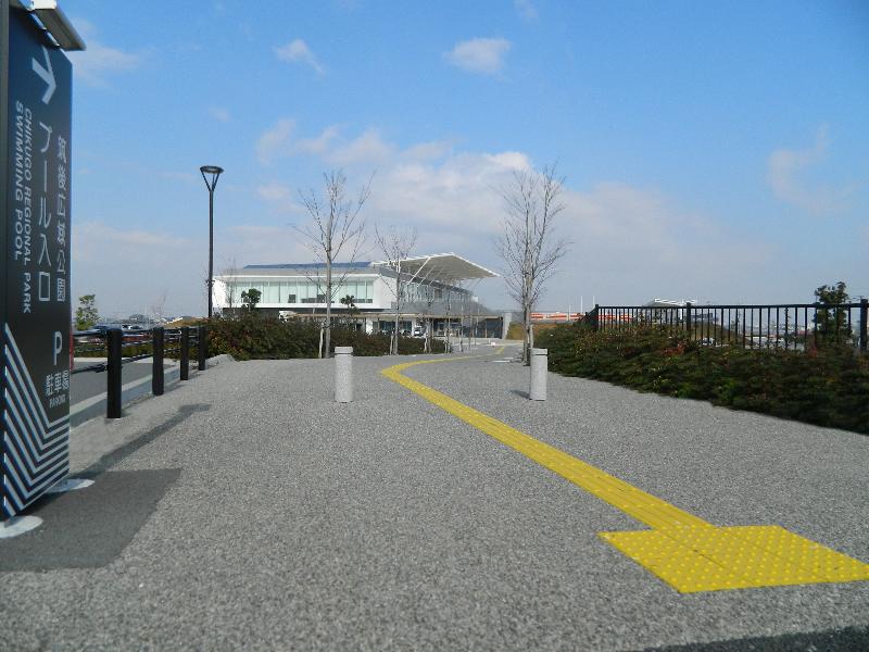 筑後広域公園プール(透水性脱色アスファルト舗装)