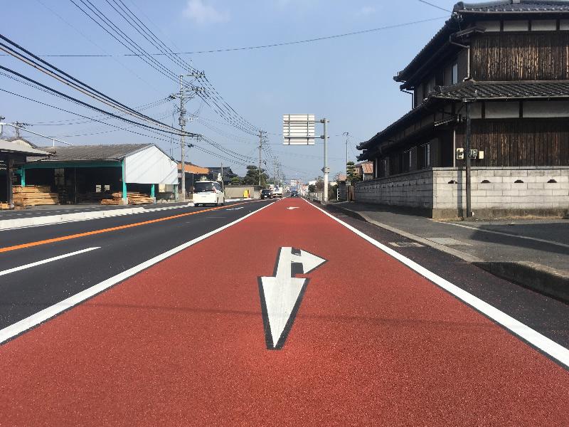 行橋車道(樹脂系滑り止め舗装)