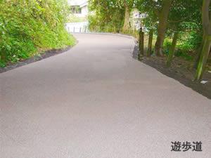 クリーンソイルロード施工例:遊歩道